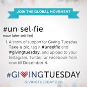 #Unselfie: A show of support for Giving Tuesday