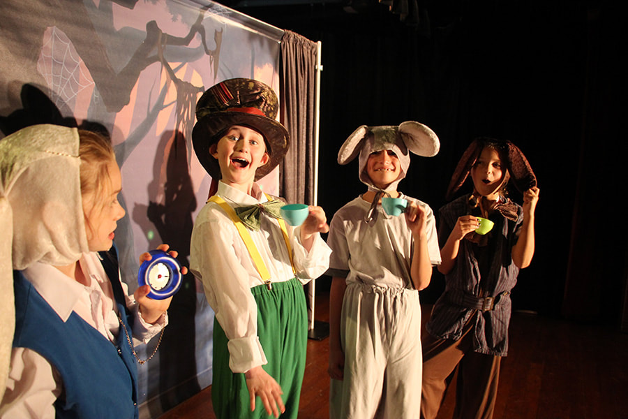 Student actors in a production of